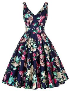 Women Dress Summer style 2016 Casual Retro Vintage 1950s 60s Big Swing Floral Print Dresses Plus Size Elegant Tunic Vestidos