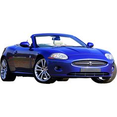This shiny blue car is built to impress. This photo has been cutout.