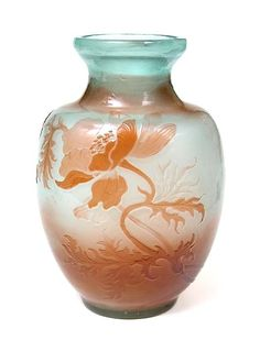 É.GALLÉ (1846-1904)___Fire-Polished Vase