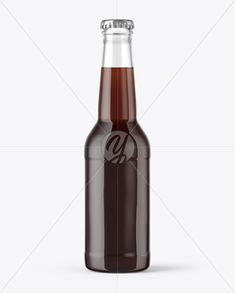 275ml Clear Glass Brown Ale Bottle Mockup