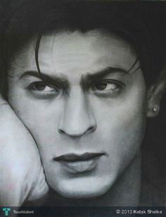 Shahrukh Khan (pencil Shading) in Sketching by Ketak Shelke Shahrukh Khan Family, Shahrukh Khan And Kajol, Kajol Dilwale, Salman Khan, Pencil Sketch Portrait, Portrait Sketches, Pictures To Paint, Old Pictures, Best Painting Ever