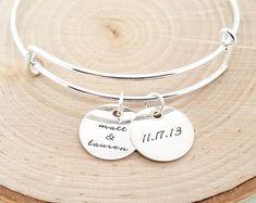 Mantra bracelet Inspiration bracelet Customize your own   Etsy Engraved Bracelet, Initial Bracelet, Sterling Silver Cuff Bracelet, Handmade Sterling Silver, Bangle Bracelet, Silver Bracelets For Women, Silver Bangles, Mothers Bracelet, Bridesmaid Bracelet
