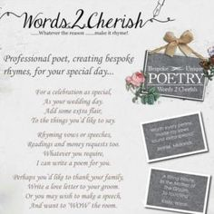 Words2cherish is a Wedding Supplier of Favours & Gifts, Stationery. Are you planning your Big Day and looking for wedding items, products or services? Why not head over to MyWeddingContacts.co.uk and take a look at Words2cherish's profile page to see what they have to offer. Helping make your wedding day into a truly Amazing Day. Oh, and good luck and best wishes with your Wedding.