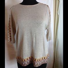 Knit top Beige knit top Mystree Tops Tees - Short Sleeve