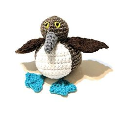 Mini Blue Footed Booby - Blue Footed Boobies - Sula nebouxii - Bird stuffed animal - Gift - Daisy O'Danny - Machine Washable - Booby by MegsMinions on Etsy