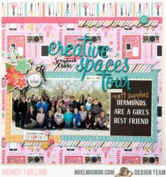 """It's Meridy here today, and I'm working with the """"She's So Crafty"""" Classic Kit today. Girls Best Friend, Best Friends, 12x12 Scrapbook, Scrapbooking, Picture Layouts, Photo Sketch, I Am Awesome, Tours, Spaces"""