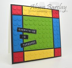 Gothdove Designs - Alison Barclay Stampin' Up! ® Australia : Stampin' Up! Australia - Everything is Awesome Lego Card #lego #stampinup