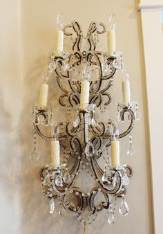 Jeweled Candle Wall Sconces : 1000+ images about Chandeliers~~Sconces~Candlelabra s on Pinterest Cherub, Opaline and Chandeliers