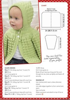 Classic Textured Baby Cardigan Pattern ~ Knitting Free