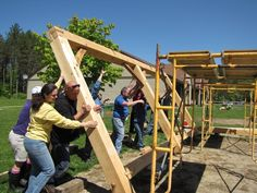 16' by 20' gathering shelter built in 2013 for the Ripton Elementary School.