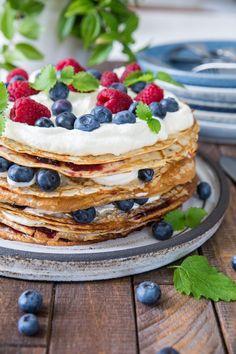 Waffles, Pancakes, Fika, Kids Meals, Sams, Breakfast, Ethnic Recipes, Desserts, Celebration