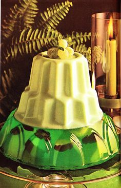 Emerald Isle Mold.  Looks like there are little turtles swimming in there.  (The Complete Cheese Cookbook, Kraft, 1971)