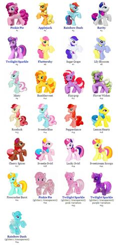 Journal of a Wota-Brony: My Little Pony G4 Blind Bag Ponies