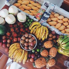 Thai people eat different varieties of tropical fruits for dessert since every meal should have a dessert in Thai custom. Fruits and their juices are also consumed as snacks and are available on every street stall.Mangoes, papayas, custard apples with scaly green skins, and jackfruit, which is large and prickly  are all Thai specials.In supermarkets, there are many fruits that are locally produced. http://www.foodbycountry.com/Spain-to-Zimbabwe-Cumulative-Index/Thailand.html#ixzz4QbxchMzU