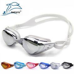 Sale 19% (5.69$) - Electroplated Myopia Goggles Waterproof Anti-fog Anti-UV Wearable Swimming Glasses
