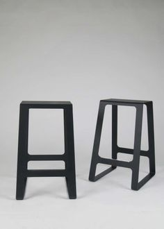 """Pair of stool """" A_Stool"""" by Jonathan Nesci Diy Furniture Plans, Steel Furniture, Find Furniture, Cheap Furniture, Furniture Decor, Modern Furniture, Furniture Design, Furniture Logo, Inspiration Design"""
