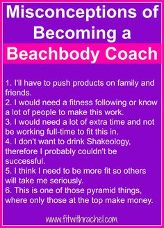 Misconceptions of Becoming a Beachbody Coach
