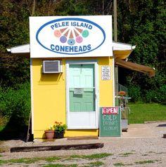 Ice Cream Stand on Pelee Island Sandusky Ohio, Ice Cream Stand, Tiny Shop, Windsor Ontario, Best Ice Cream, Lake Erie, Places Of Interest, Cozy Cottage, Great Lakes