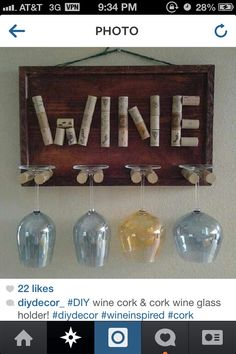 DIY wine holder  DIY home decor