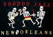 Voo Doo Jazz - New Orleans t-shirt. Gently broken in for you and in mint condition. 100% cotton. Small.
