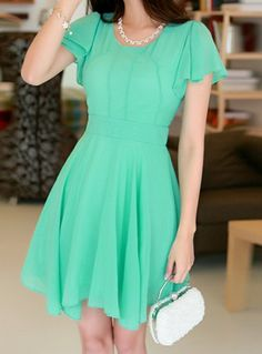 SHARE & Get it FREE   Stylish Women's Scoop Neck Solid Color Short Sleeve Chiffon DressFor Fashion Lovers only:80,000+ Items • New Arrivals Daily • Affordable Casual to Chic for Every Occasion Join Sammydress: Get YOUR $50 NOW!