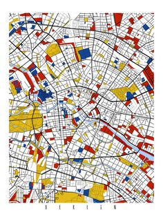 Berlin Map Art / Berlin, Germany Wall Art / Print / Poster / Modern Home Decor