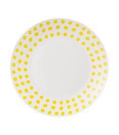 Dinerbord: bord van melamine met een zomerse print, vaatwasserbestendig.