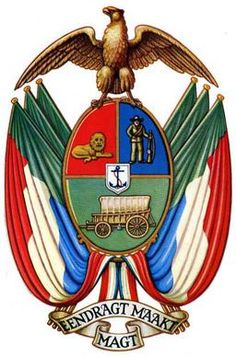 Coat of Arms of the Transvaal - South African Republic - Wikipedia, the free encyclopedia Union Of South Africa, South African Flag, African States, African Countries, African Tattoo, Flags Of The World, My Heritage, African History, History Facts