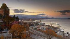 Quebec City harbour  A bird's-eye view of the dusky tones that appear across Quebec's charming harbour at sunset. (Denis Corriveau/LPI)