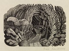 Wood engraving by Eric Ravilious from 'The Natural History of Selborne' by Gilbert White, 1938 (Nonesuch Press) Walter Crane, Edmund Dulac, Ex Libris, Nocturne, Art Nouveau, Royal Academy Of Arts, Scratchboard, Wood Engraving, Woodblock Print