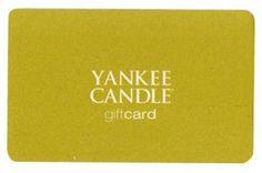 Yankee Candle Gift Card ~ My candle/scent collection for ALL seasons and holidays is never-ending... ;)