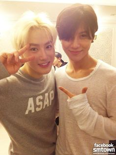 Suho and Taemin at EXO's Concert