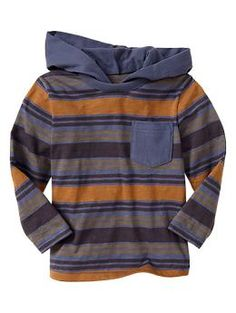 Multi-stripe hoodie top navy & yellow size 4 yrs