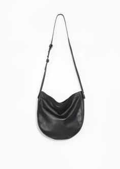 & Other Stories image 1 of Soft Leather Hobo Bag  in Black