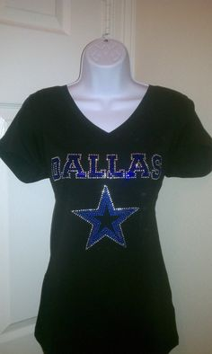 Dallas Cowboys Bling Shirt by ourcreativetouch on Etsy, $38.00
