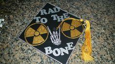 Graduation cap radiology Radiology Degree, Radiology Schools, Radiology Student, Radiology Humor, Grad Cap, Graduation Caps, College Graduation, Radiologic Technology, Nuclear Medicine
