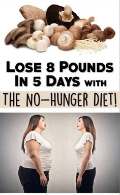 Lose 8 Pounds In 5 Days With The No-Hunger Diet!