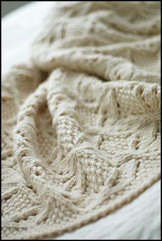 "Umaro  Designed by Jared Flood    Knit in Lana Grande  (100% Peruvian Highland Wool - 87 yds/100 g) - 48 x 57"" after blocking    This luxuri..."