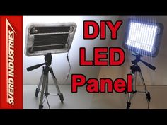 DIY LED Panel - Video and Work Light - YouTube