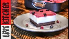 "Δροσερό Γλυκό για τους ""Kαύσωνες""!!! -Amazing  cherry pudding  jello des... Cookbook Recipes, Cooking Recipes, Tasty Videos, Kitchen Living, Jello, Panna Cotta, Cheesecake, Deserts, Sweets"