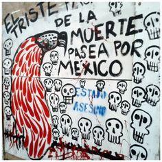 Alfredito Romano Guadalajara marcha y se une en la protesta con arte. #YaMeCansé #Ayotzinapa  https://survivingmexico.wordpress.com/2014/11/21/more-thoughts-on-safety-and-security/