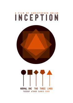 Inception (2010) ~ Minimal Movie Poster by Jan Wurtmann ~ Christopher Nolan