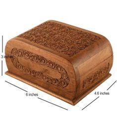 Fine Carved Jewellery Box