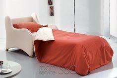 Magica Designer Modern Sleeper Chair in Bed Position by Bonaldo