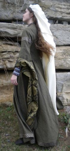 Custom Early Medieval Overdress Made to Order by GreenMountainGarb, $600.00
