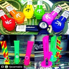 @tjscannabis with @repostapp  We just got in a wide variety of silicone products from @piecemakergear!!! Top: Silicone Karma pipes $9  Bottom Left: Silicone Kolt bongs $45  Bottom Right: Silicone Kermit bongs $50 #tjscannabis #siliconepipe  Tag a friend  Blaze YOUR own trail & tag us in you pics and we will repost #piecemakergear.com #piecemaker #BlazeYourOwnTrail #byot #siliconewaterpipe #thc #ganja #420 #budtender #hypeaf #maryjane #marijuana #siliconebongs #シュプリーム #siliconebong #dabbing…