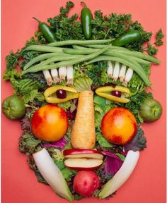 Food makes art scrumptious!   Archimboldo inspired