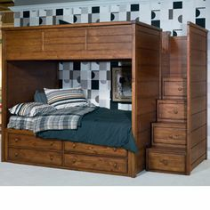 Elite Logan County Bunk/Loft Bed with Bed Steps