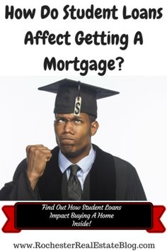 How Do Student Loans Affect Getting A Mortgage http://www.rochesterrealestateblog.com/student-loans-affect-getting-mortgage-buying-home/