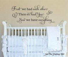 First We Had Each Other Wall Decal  Baby Vinyl by JustTheFrosting